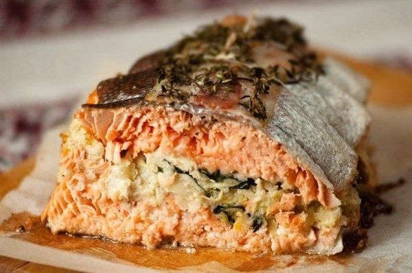 trout-with-artichokes-almonds-mint-and-bread-crumbs