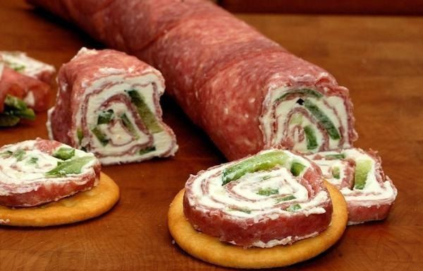 roll-of-salami-and-cream-cheese